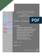 CORTE DIRECTO - MEC. SUELOS II - SEGUNDO INFORME