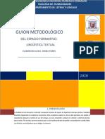 GUION METODOLOGICO- LINGUISTICA TEXTUAL 2017
