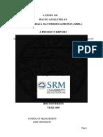 RATIO ANALYSIS AT AMARARAJA BATTERIES LIMITED (ARBL).docx