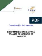 Exámen para obtener licencia de manejo León Gto