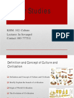 Week 2_Definition & Concept of Culture_Updated