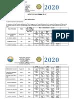 office workweek plan (June 29-July 3-2020)
