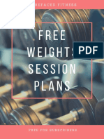 Free Weights Training Programme