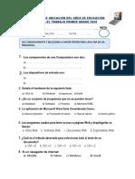 EXAMEN DE UBICACIÓN DE EPT  1º LVA 2020