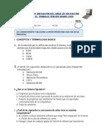 EXAMEN DE UBICACIÓN DE EPT  3º LVA 2020