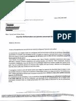 Lettre pour l'école G Dru de l'ARS et de la Ville de Lyon du 3 Juillet