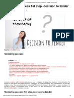 1st step of tendering process-decision to tender · Quantity Surveyor blog