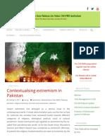 Contextualsing extremism in Pakistan - CSS Online Academy