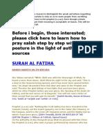 Virtues Surah Sahih Hadith