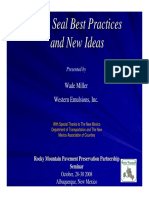 Chip Seal Best Practices and New Ideas