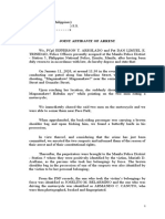 Joint Affidavit of Arrest