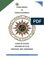UNED CURSO BÁSICO DE LENGUA ESPAÑOLA