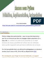 PD - classes sous pythonf