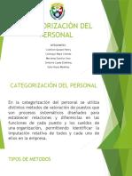CATEGORIZACIÒN DEL PERSONAL EXPO