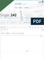 Manual de instrucciones Singer 242 Máquina de coser