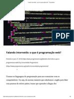 o que é programação web ESTRUTURA_ - PrograMaria