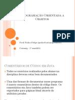 Programação Orientada a Objetos 3-1
