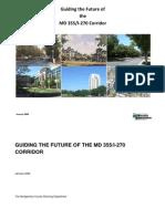 Guiding the Future of the MD 355/I-270 Corridor January