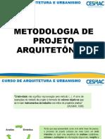 METODOLOGIA DE PROJETO ARQUITETÔNICO 2018.2