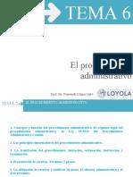 TEMA 6 El procedimiento administrativo (1)