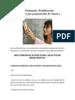 Formato de Demanda POR PREPARACION DE CLASES
