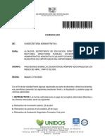 2020030104030 Comunicado Liquidación Nómina