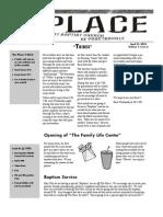 Newsletter 2 April 21, 2010