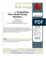 BSG04-ToolsForEvaluatingYourSmallGroupMinistry