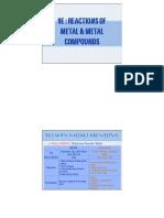 9e Reactions of Metal