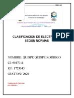 CLASIFICAION DE ELECTRODOS AWS