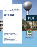 Hydrology Infiltration Report علي محمد كريم.pdf
