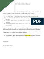 Instructivo lengua castellana 2