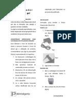 Manual Totem Dispensador de Alcool Gel