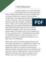 AMERICA MY MOTHERLAND