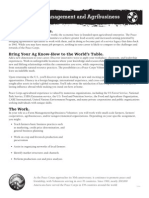 Peace Corps Farm Management and Agribusiness flyer