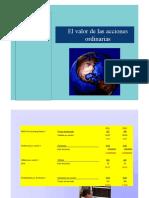 VALOR DE LAS ACCIONES ORDINARIAS POWER POINT 2020 1