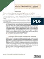 Characterization of venturi injector using dimensional analysis