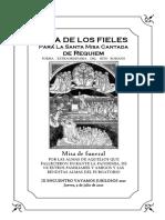 Misa de Requiem por las difuntos de la Pandemia. GUÍA DE LOS FIELES PARA LA MISA CANTADA
