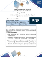 Guía de actividades y rúbrica de evaluación - Unidad 3 - Etapa 4 - Algoritmos con funciones