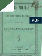 Código militar de Antioquia. 1876