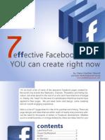 Facebook E-Book - 7 Effective Facebook Pages + 23 Facebook Marketing Tips