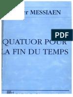 Olivier Messiaen Quatour Pour La Fin Du Temps