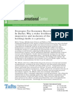 Strategies For Economic Recovery And Peace In Darfur