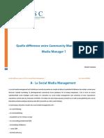 Quelle différence entre Community Manager et Social Media Manager