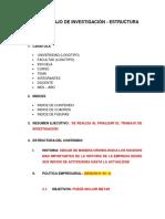 ESTRUCTURA - TRABAJO DE INVESTIGACIÓN