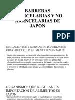BARRERAS ARANCELARIAS Y NO ARANCELARIAS DE JAPON
