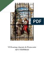 I Visperas  gregorianas del VI Domingo Después de Pentecostes