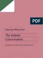 Blanchot 1963-The Infinite Conversation