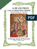 VI Domingo Después de Pentecostes. Guía de los fieles para la santa misa cantada. Kyrial Orbis Factor