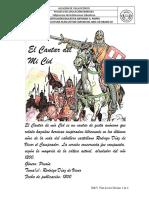 Cantar del Mio Cid, plan lector 10